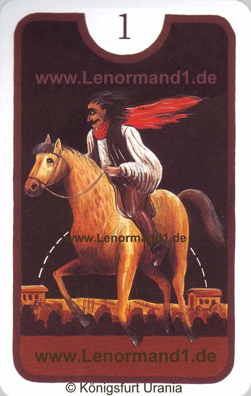 Der Reiter Zigeuner Lenormand Tageskarte heute