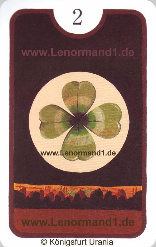 Der Klee Zigeuner Lenormand Tageskarte heute