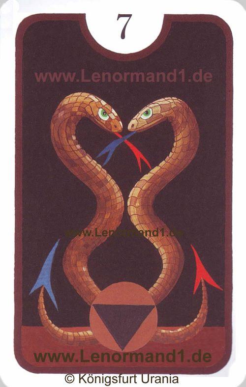 Die Schlange Zigeuner Lenormand Tageskarte heute