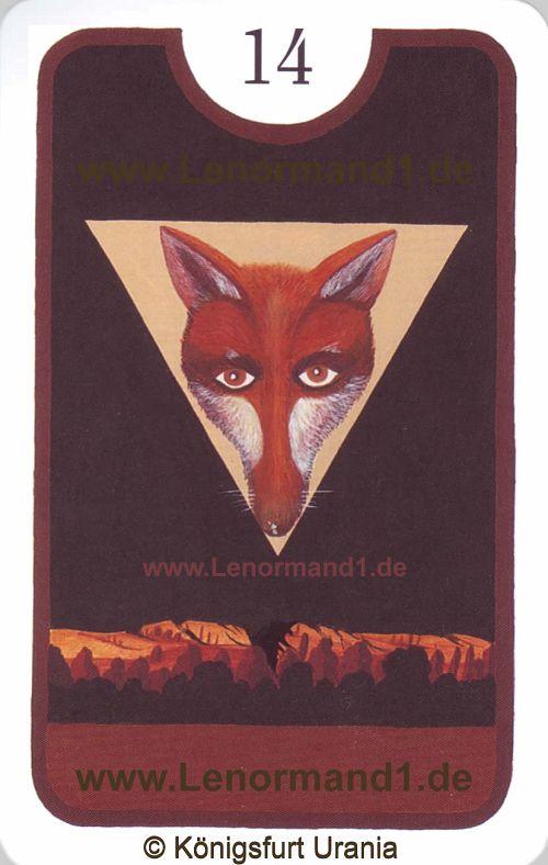 Der Fuchs Zigeuner Lenormand Tageskarte heute