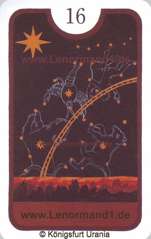 Die Sterne Zigeuner Lenormand Tageskarte heute