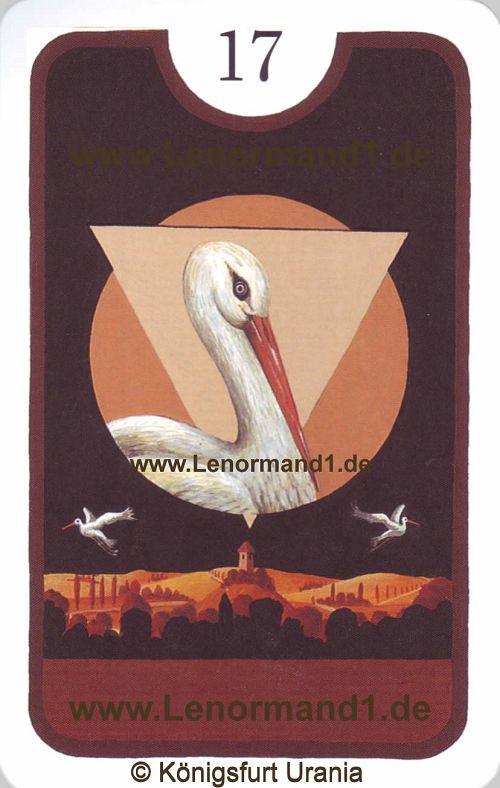 Der Storch Zigeuner Lenormand Tageskarte heute