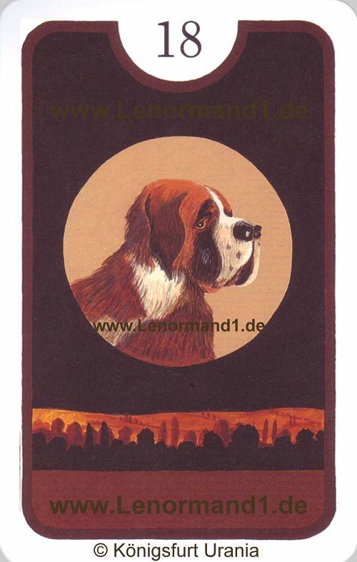 Der Hund Zigeuner Lenormand Tageskarte heute