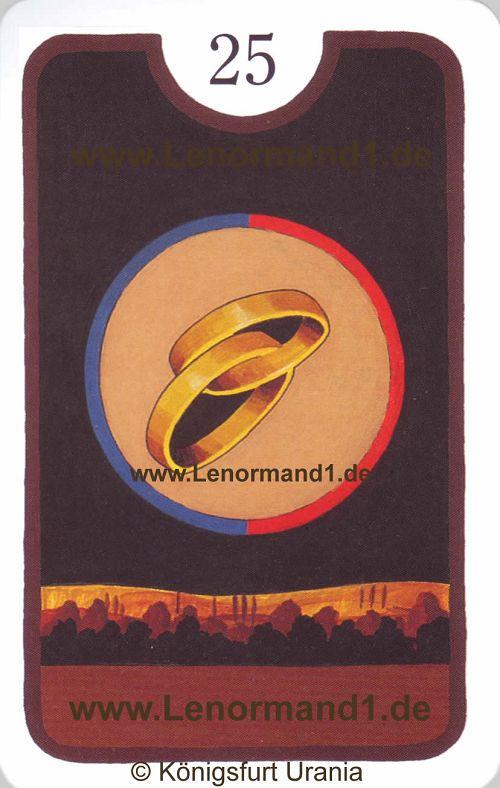Der Ring Zigeuner Lenormand Tageskarte heute