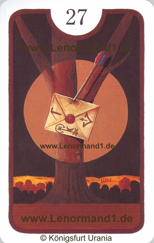 Der Brief Zigeuner Lenormand Tageskarte heute