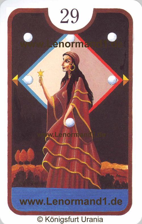 Die Dame Zigeuner Lenormand Tageskarte heute