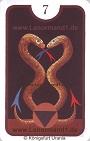 Schlange von den Zigeuner Lenormandkarten