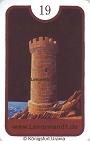 Turm von den Zigeuner Lenormandkarten