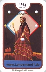 Die Dame Zigeuner Lenormandkarten