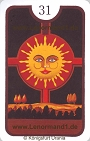 Sonne von den Zigeuner Lenormandkarten