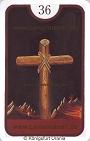 Kreuz von den Zigeuner Lenormandkarten