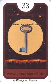 Schlüssel, Zigeuner Lenormand