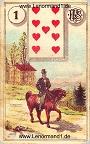 Der Reiter antike Lenormandkarten von Ferdinand Piatnik