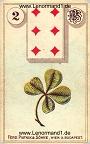 Der Klee antike Lenormandkarten von Ferdinand Piatnik