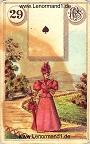 Die Dame antike Lenormandkarten von Ferdinand Piatnik