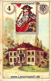 Haus, antikes Piatnik Lenormand