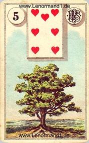 Baum, antikes Piatnik Lenormand