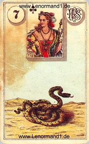 Schlange, antikes Piatnik Lenormand