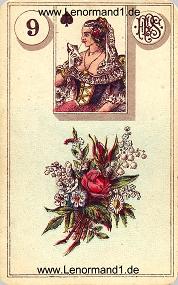 Blumen, antikes Piatnik Lenormand