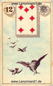 Vögel, antikes Piatnik Lenormand