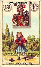 Kind, antikes Piatnik Lenormand