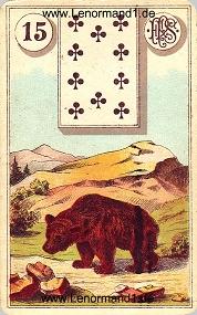 Bär, antikes Piatnik Lenormand