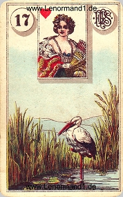 Storch, antikes Piatnik Lenormand