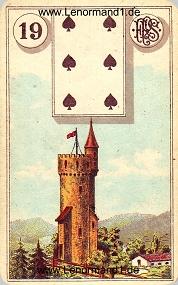 Turm, antikes Piatnik Lenormand