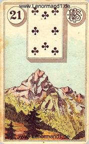 Berg, antikes Piatnik Lenormand