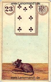 Mäuse, antikes Piatnik Lenormand