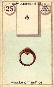 Ring, antikes Piatnik Lenormand