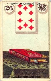 Buch, antikes Piatnik Lenormand