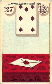Brief, antikes Piatnik Lenormand