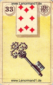Schlüssel, antikes Piatnik Lenormand
