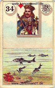 Fische, antikes Piatnik Lenormand