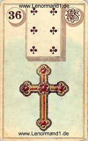 Kreuz, antikes Piatnik Lenormand