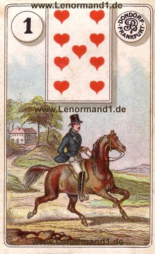 Der Reiter von dem antiken Dondorf Lenormand