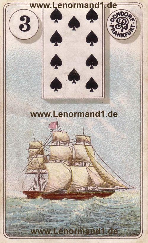 Das Schiff von dem antiken Dondorf Lenormand