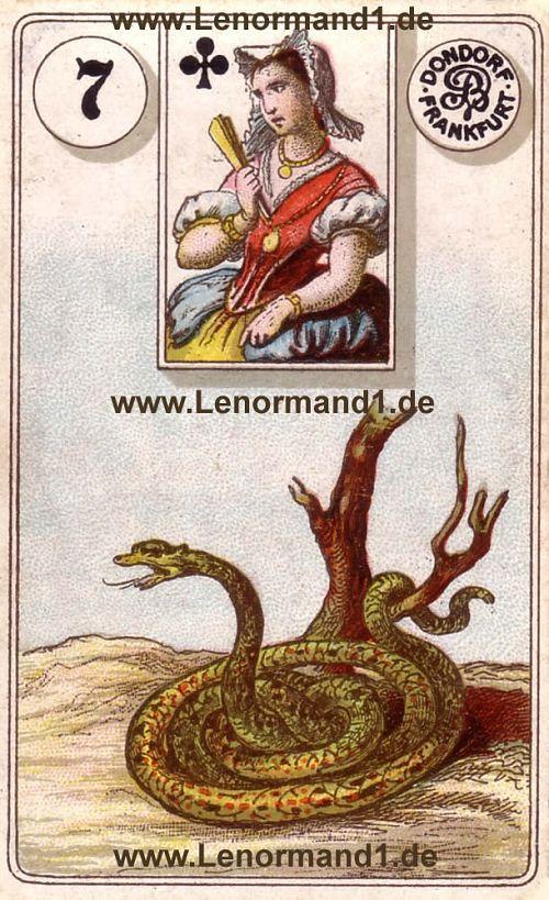 Die Schlange Dondorf Lenormand Tageskarte heute