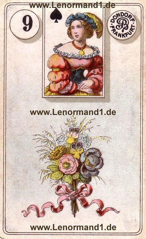 Die Blumen von dem antiken Dondorf Lenormand