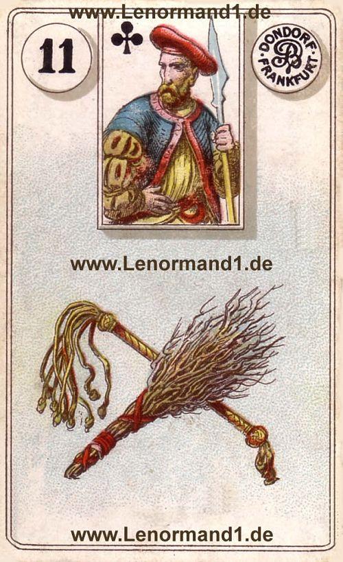 Die Ruten von dem antiken Dondorf Lenormand