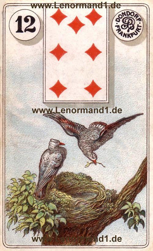 Die Vögel von dem antiken Dondorf Lenormand