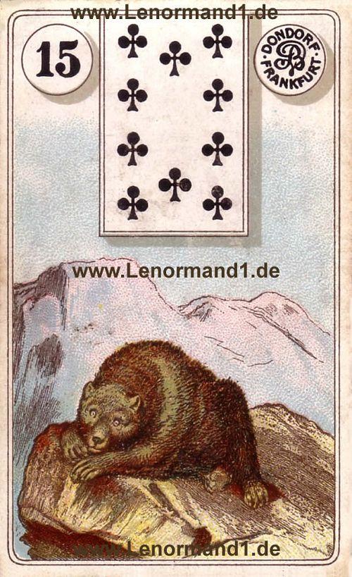 Der Bär von dem antiken Dondorf Lenormand