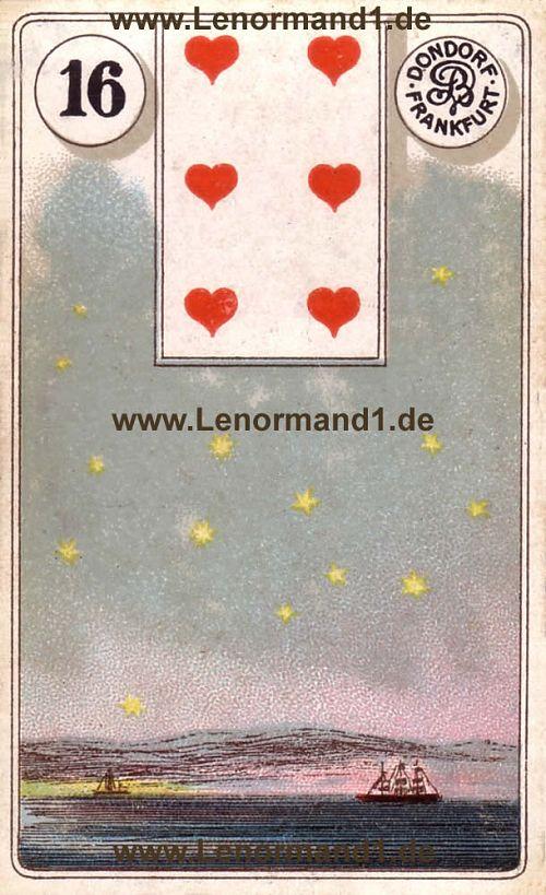 Die Sterne von dem antiken Dondorf Lenormand