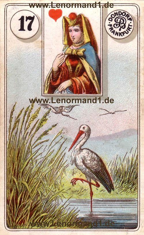 Der Storch Dondorf Lenormand Tageskarte heute