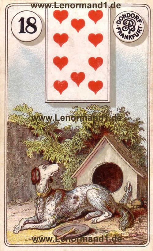 Der Hund Dondorf Lenormand Tageskarte heute