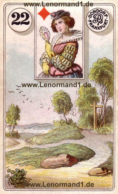 Die Wege von dem antiken Dondorf Lenormand