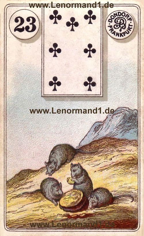 Die Mäuse von dem antiken Dondorf Lenormand