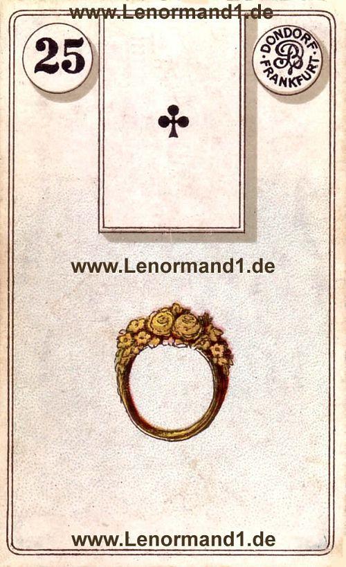 Der Ring von dem antiken Dondorf Lenormand
