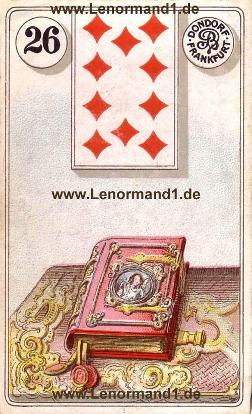 Das Buch Dondorf Lenormand Tageskarte heute